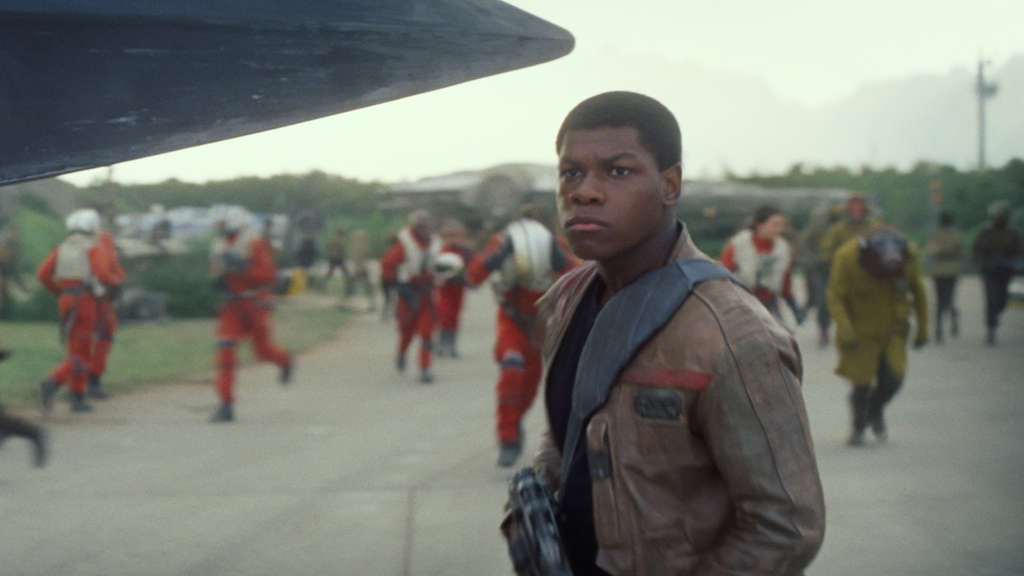 Star Wars: The Force AwakensFinn (John Boyega)Ph: Film Frame© 2014 Lucasfilm Ltd. & TM. All Right Reserved..