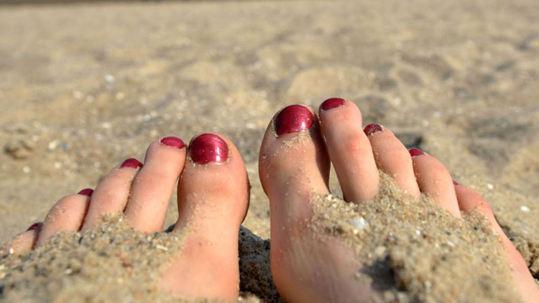 Füße Sand Strand