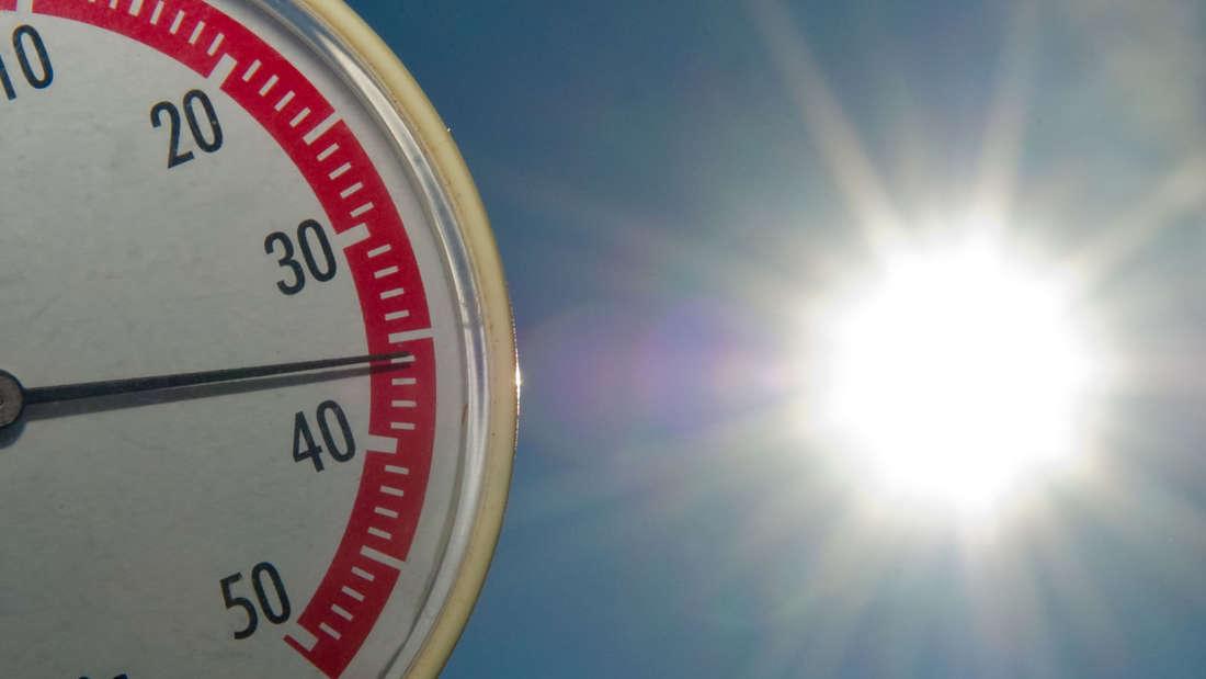 Termometer, Hitze, Hitzewarnung
