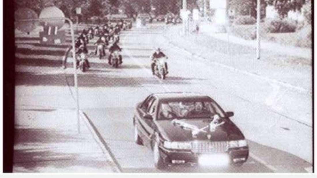 Prozession der Biker