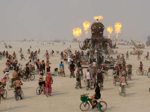 Kunst in der Wüste: Burning Man Festival