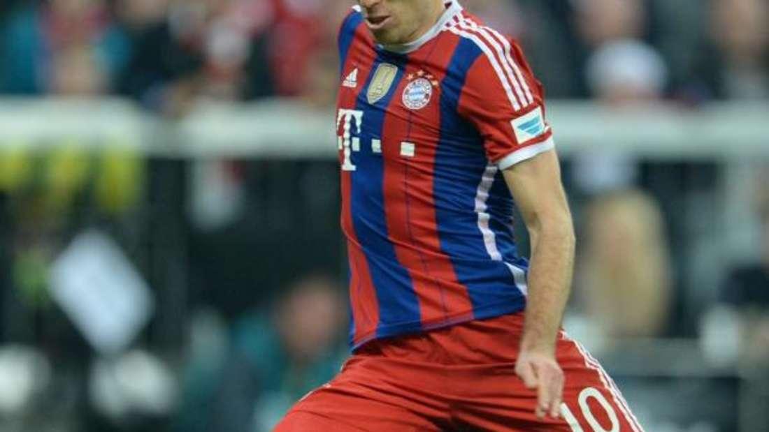 Arjen Robben traf vom Elfmeterpunkt zum 2:1-Endstand. Foto: Andreas Gebert