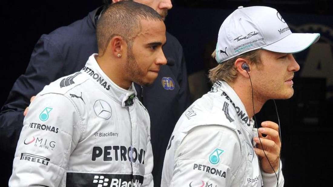 Beim Kampf um die Weltmeisterschaft wird Lewis Hamilton seinem Teamkollegen Nico Rosberg nicht den Vortritt lassen wollen. Foto: Nicolas Bouvy