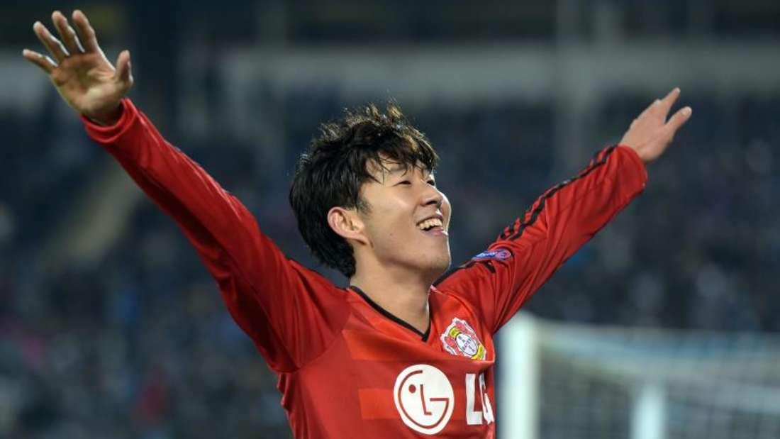 Heung-Min Son glänzte führte mit einem Doppelpack Leverkusen zum 2:1-Sieg. Foto: Federico Gambarini