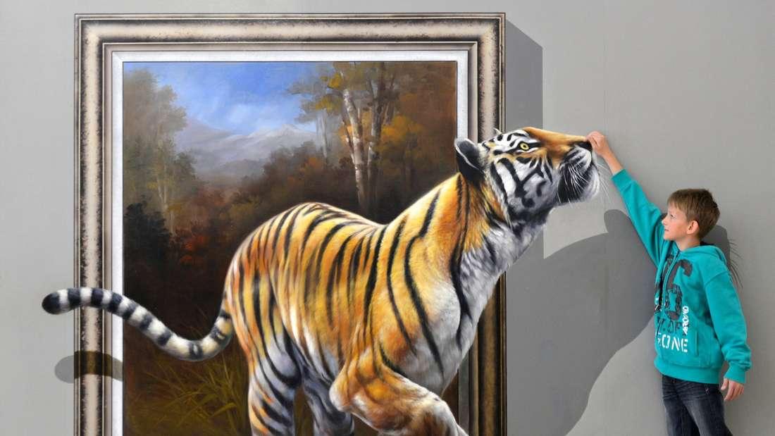 Verblüffend: Ein Kunstwerk in spezieller 3-D-Technik gemalt.