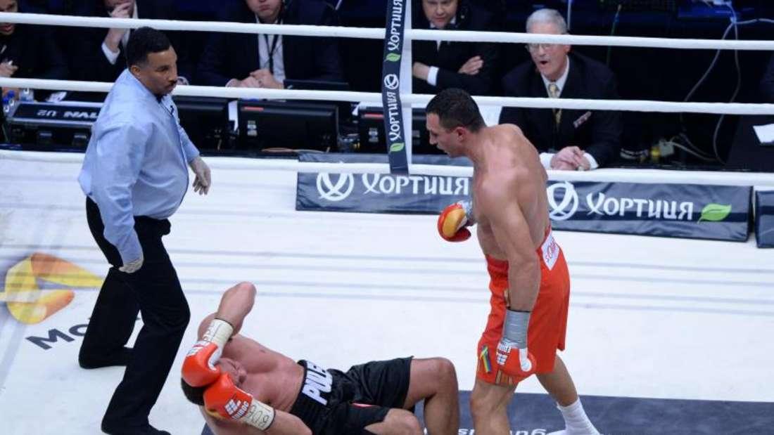 Wladimir Klitschko knockte Kubrat Pulew in der fünften Runde aus. Foto: Daniel Bockwoldt