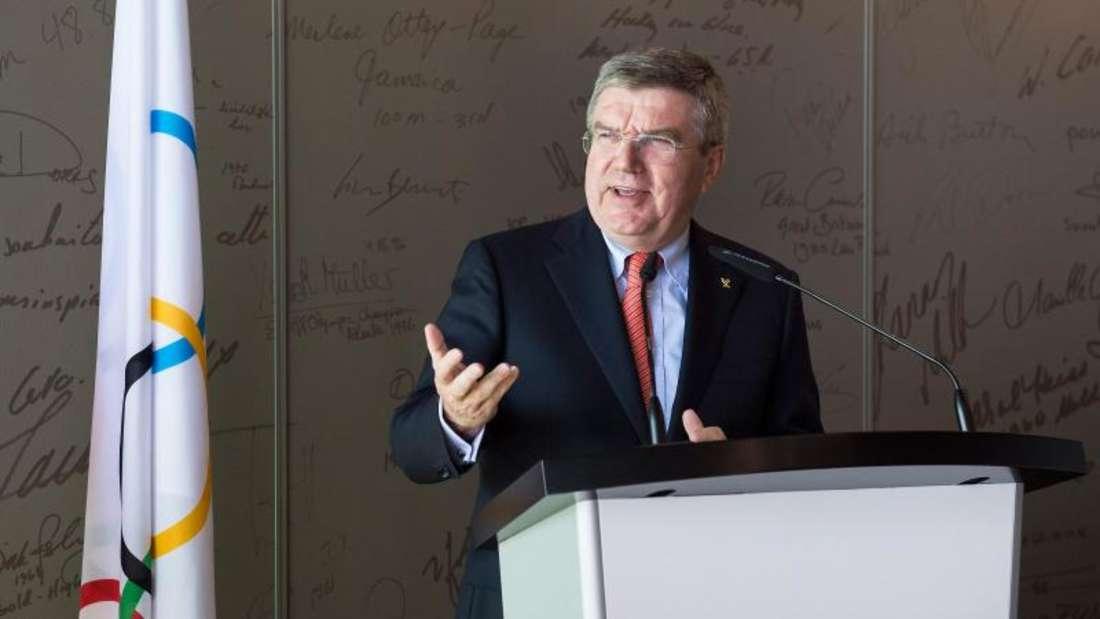 IOC-Präsident Thomas Bach will in Lausanne 40 Empfehlungen zur Modernisierung des IOC und der Olympischen Spiele vorstellen. Foto: Jean-Christophe Bott