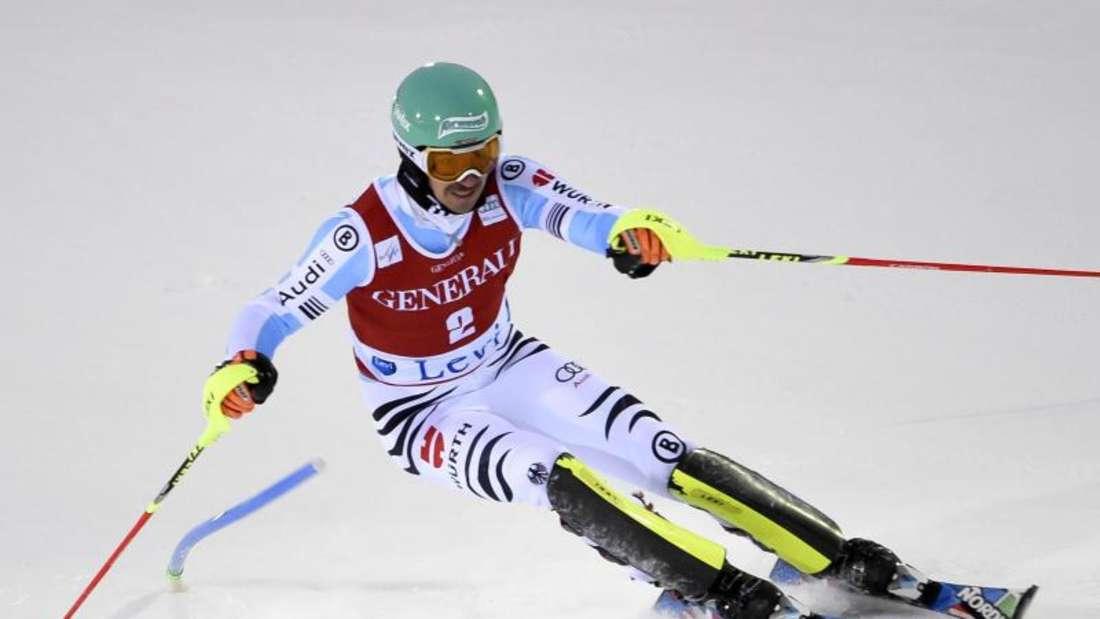Trotz Rückenbeschwerden raste Felix Neureuther in Levi überraschend auf Platz drei. Foto: Markku Ojala