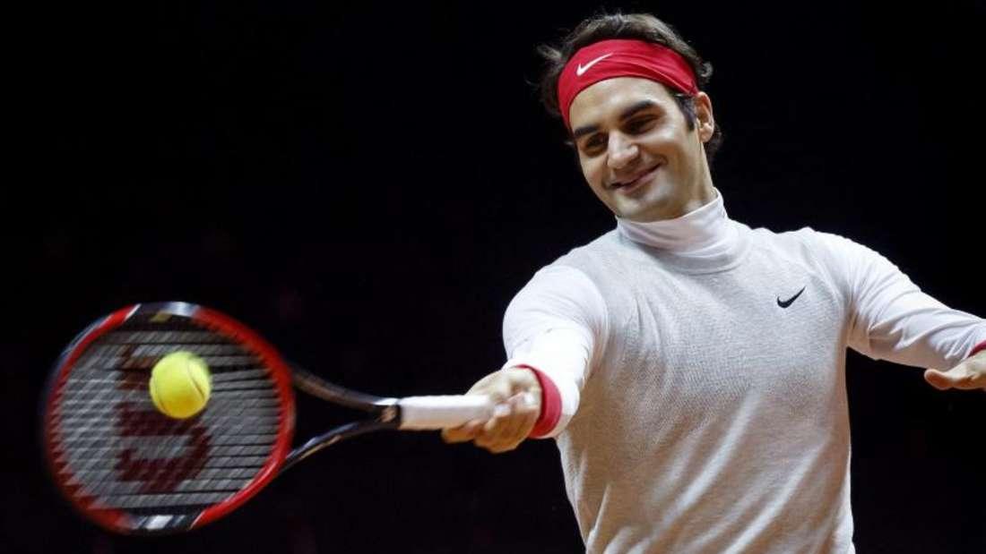 Roger Federer trifft am Freitag im Einzel auf Gael Monfils. Foto: Salvatore Di Nolfi
