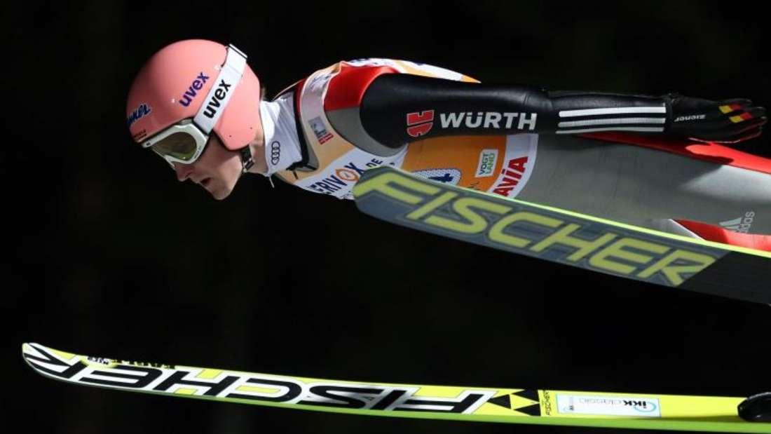 Die deutschen Skispringer um Severin Freund präsentierten sich gut inForm zumWeltcup-Auftakt. Foto: Hendrik Schmidt