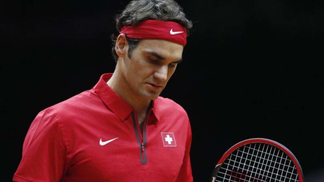 Roger Federer holte gegen Richard Gasquet den dritten Punkt für die Schwaeiz. Foto: Yoan Valat