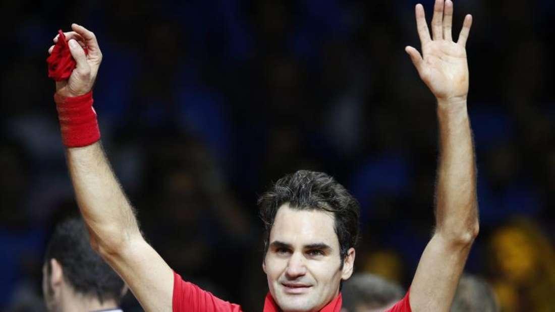Tennisstar Roger Federer wurde auch von den Medien gefeiert. Foto: Yoan Valat