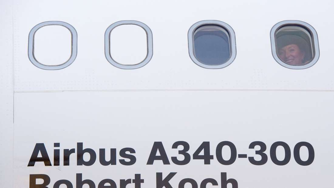 "Ebola Evakuierungsflugzeug ""Robert Koch"""