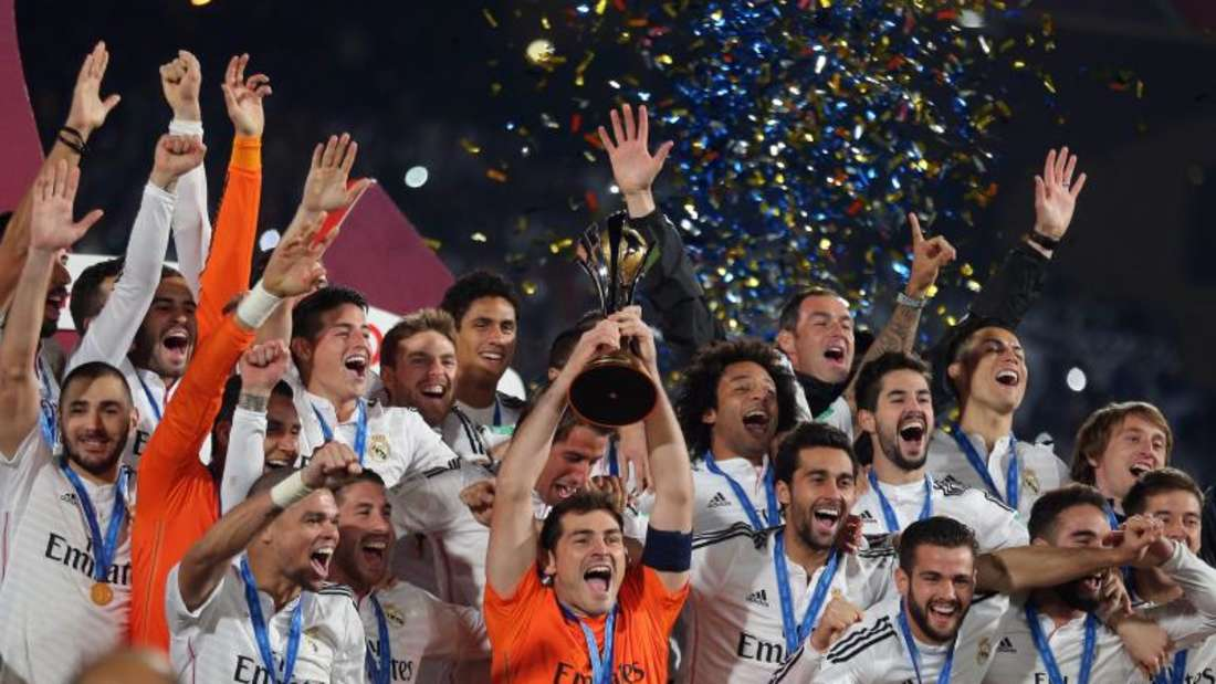 Real Madrid sicherte sich erstmals den Sieg bei der Club-WM. Foto: Mohamed Messara