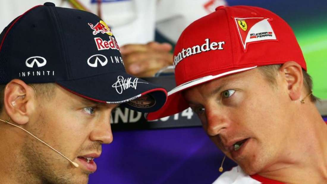 Sebastian Vettel (l) und Kimi Räikkönen bilden das neue Ferrari-Duo. Foto: Jens Büttner
