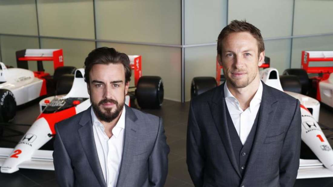Die McLaren-Piloten für 2015: Fernando Alonso (l) und Jenson ButtonFoto: McLaren-Honda