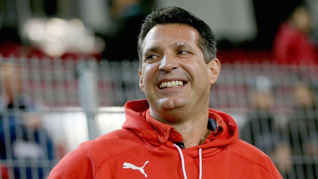 Der Trainer des SV Sandhausen, Alois Schwartz, kann mit den Testspielen im Trainingslager zufrieden sein.