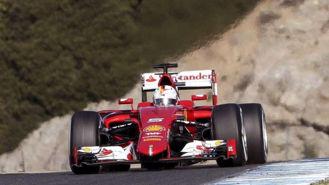 Auch Sebastian Vettels neue «Lady in red» soll einen Namen erhalten. Foto: Roman Rios
