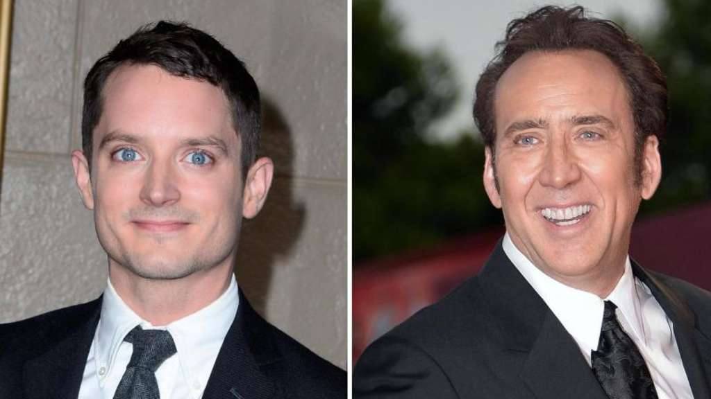 "Elijah Wood (l) und Nicolas Cage (ARchivfotos) spielen in dem Thriller ""The Trust"" mit Fotos: epa Foto: EPA"