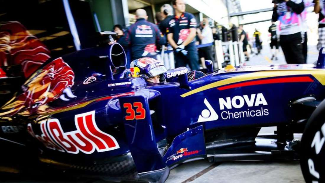 Max Verstappen fuhr im Toro Rosso als Erster auf die Strecke. Foto: Srdjan Suki