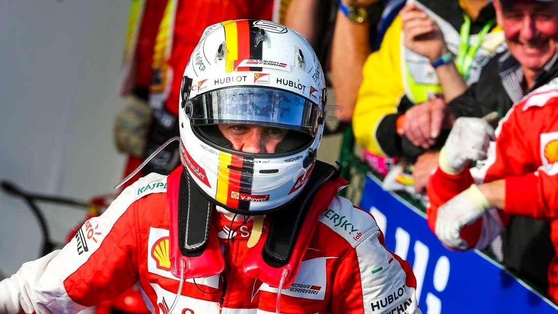 Sebastian Vettel fuhr seinen Ferrari in Melbourne auf Rang drei.
