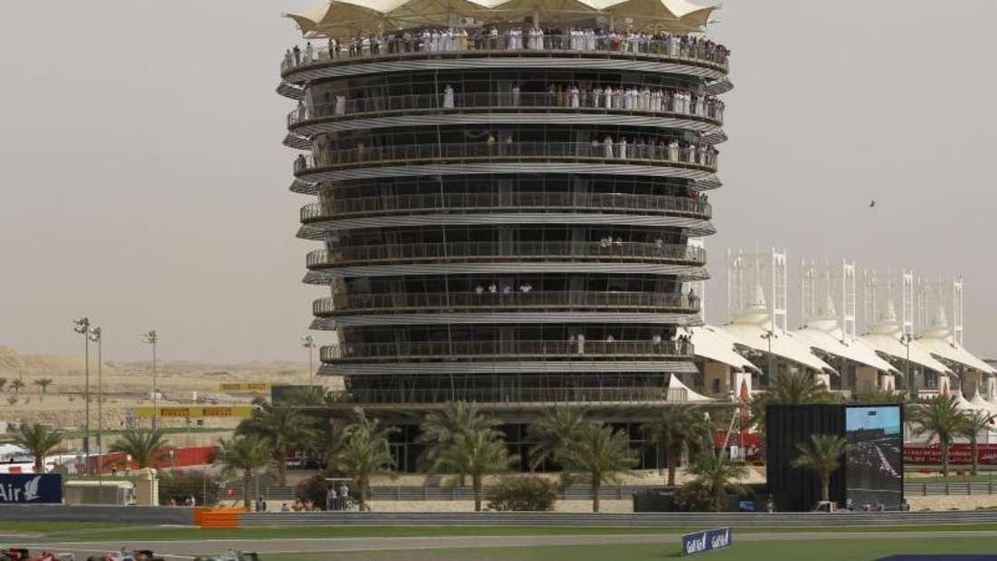 Dr Große Preis von Bahrain ist politisch umstritten. Foto:Valdrin Xhemaj