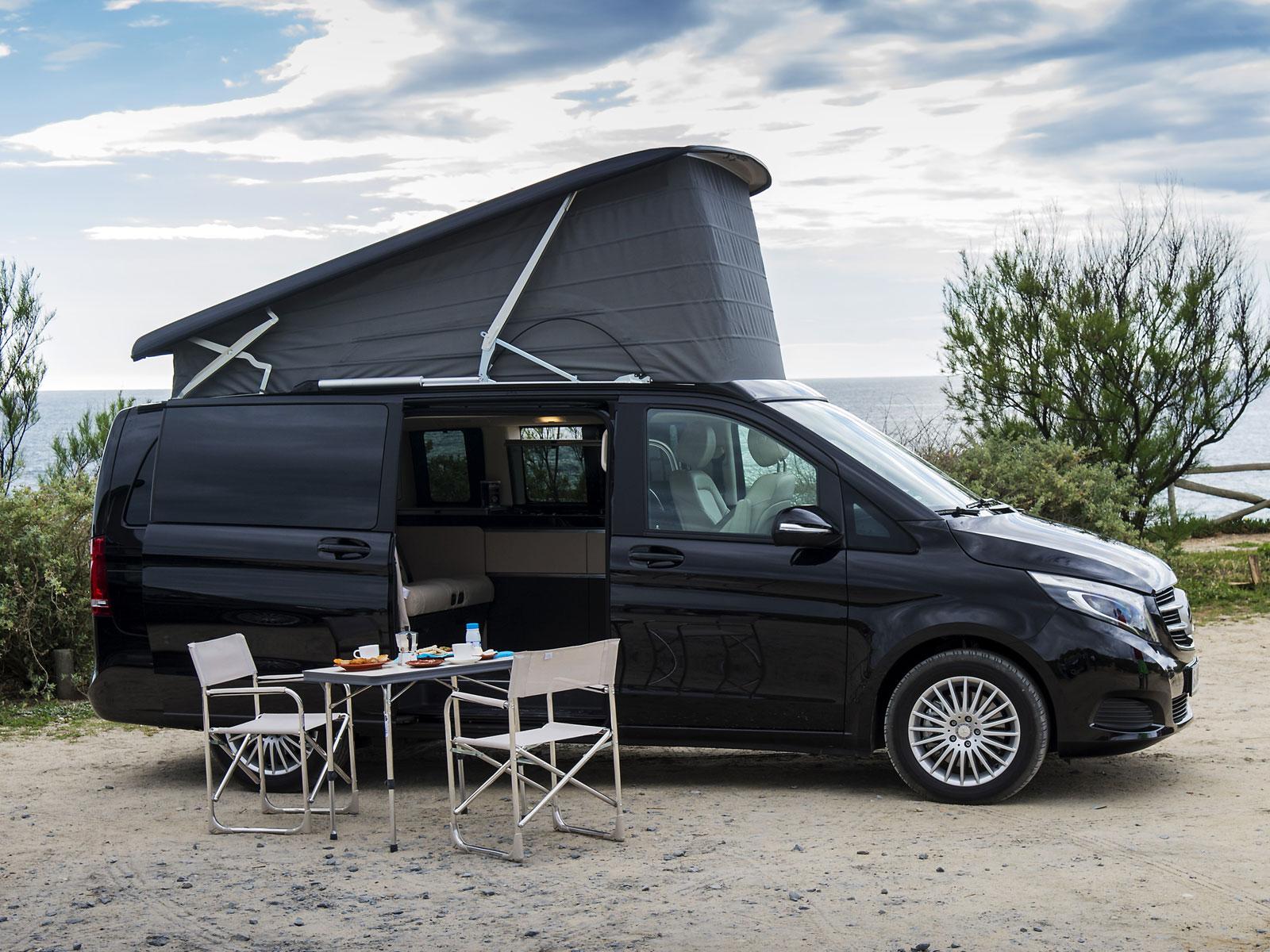 mercedes marco polo kompaktes reisemobil auf basis der v. Black Bedroom Furniture Sets. Home Design Ideas