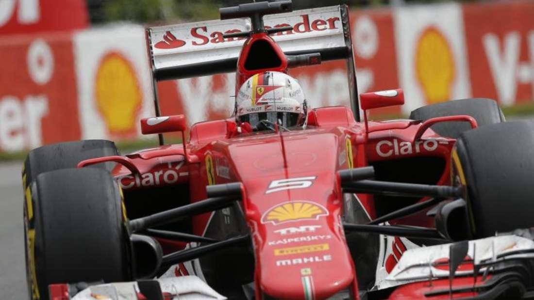 Sebastian Vettel musste seinen Ferrari früh abstellen. Foto:Valdrin Xhemaj