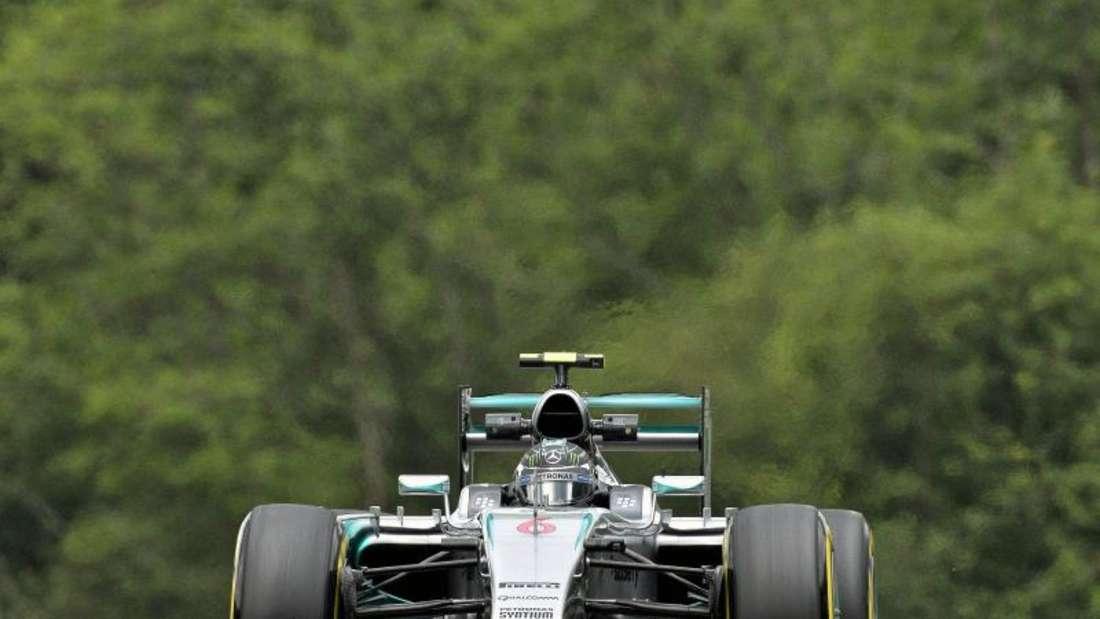 Nico Rosberg fuhr eine deutlich bessere Zeit als sein Teamkollege. Foto: Erwin Scheriau