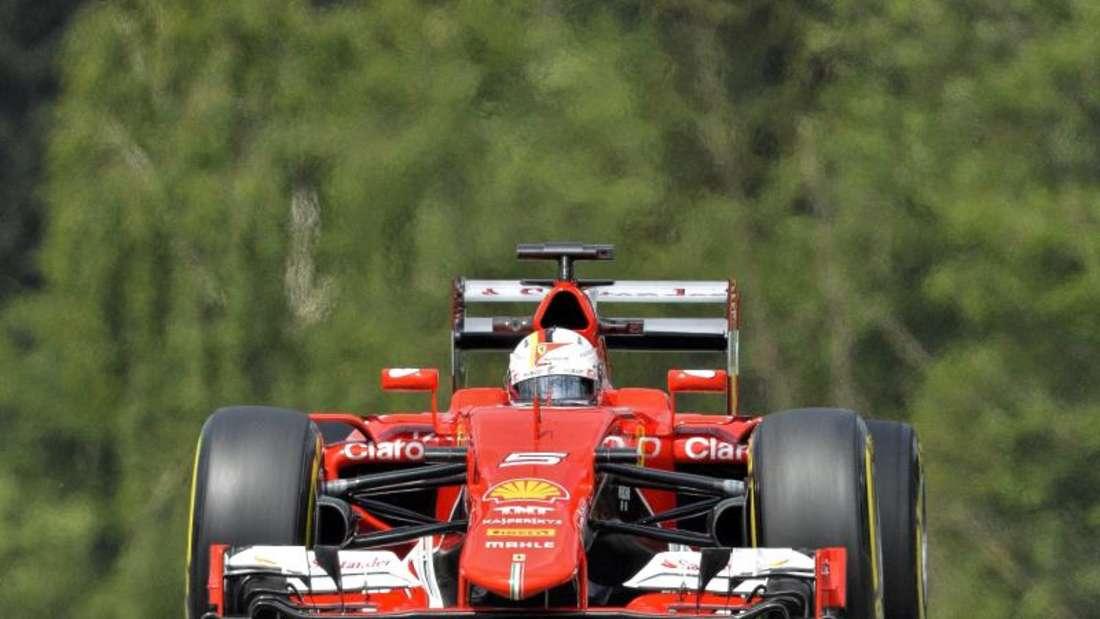 Sebastian Vettel war im zweiten Training der Schnellste. Foto: Herbert Neubauer