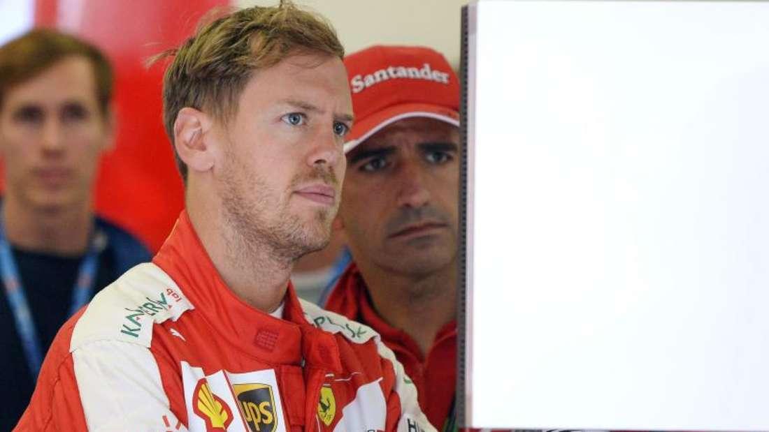 Nicht nur im Cockpit arbeitet Sebastian Vettel versessen am Erfolg der Scuderia. Foto: Hans Klaus Techt