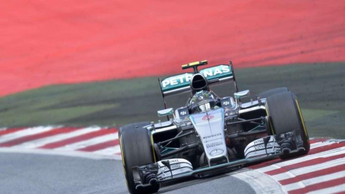 Nico Rosberg testete den Mercedes-Boliden in Spielberg. Foto: Herbert Neubauer