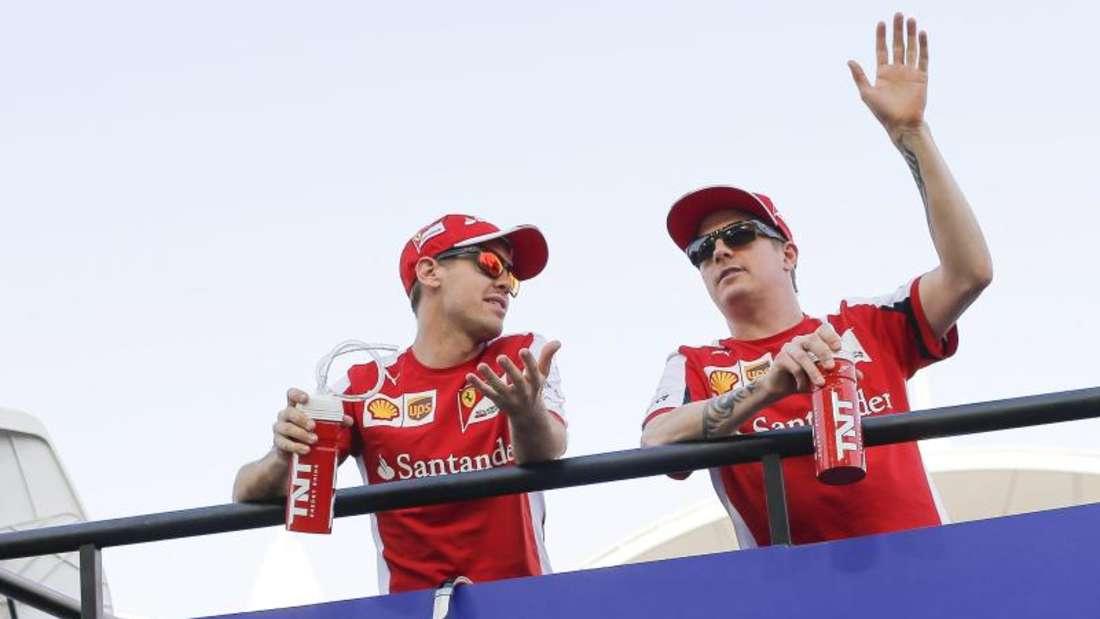 Sebastian Vettel würde Kimi Räikkönen gern bei Ferrari halten. Foto:Valdrin Xhemaj