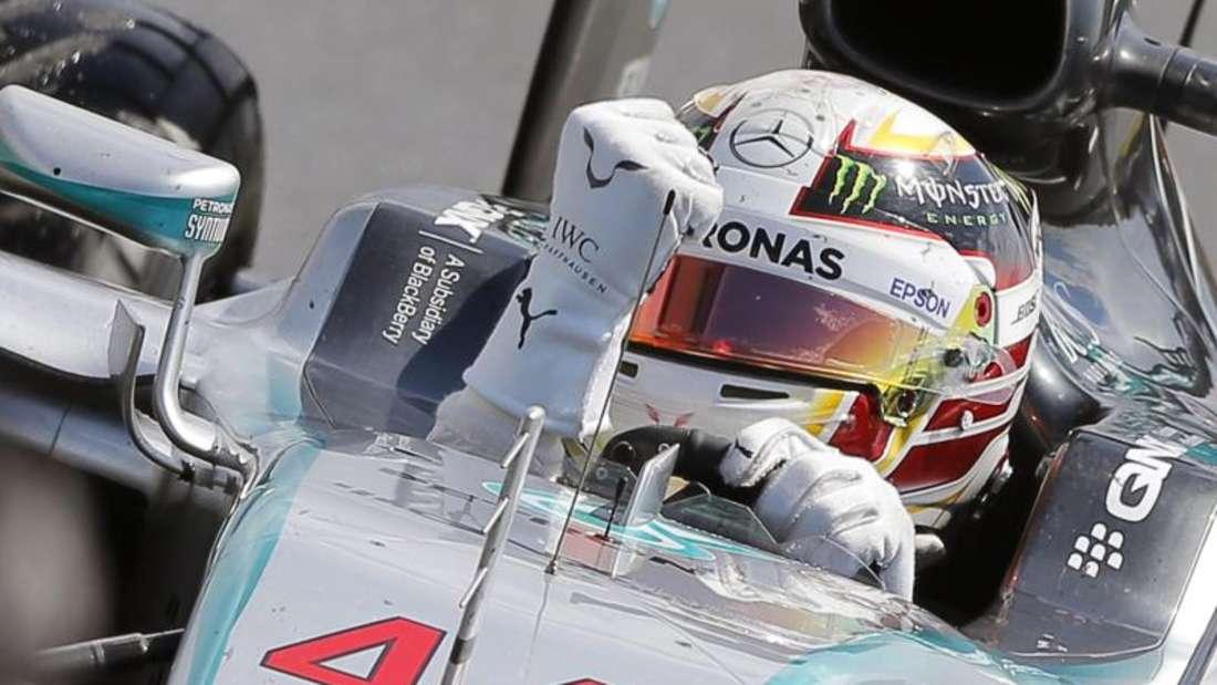 Yeeees! Lewis Hamilton ballte nach seinem Silverstone-Sieg die Faust. Foto: Valdrin Xhemaj