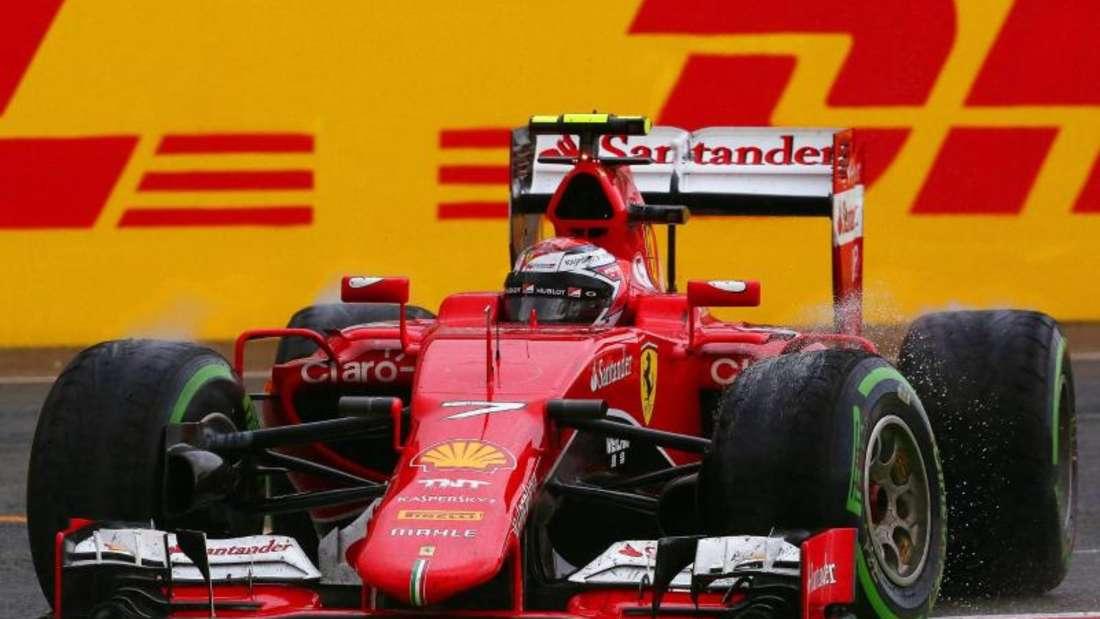 Für Ferrari-Pilot Kimi Räikkönen reichte es in Silverstone nur zum achten Platz. Foto: Geoff Caddick