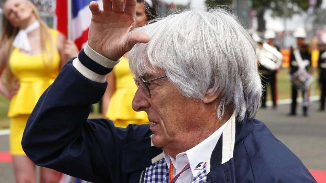 Bernie Ecclestone zeigte sich tief betroffen vom Tod Bianchis. Foto: Phil Noble