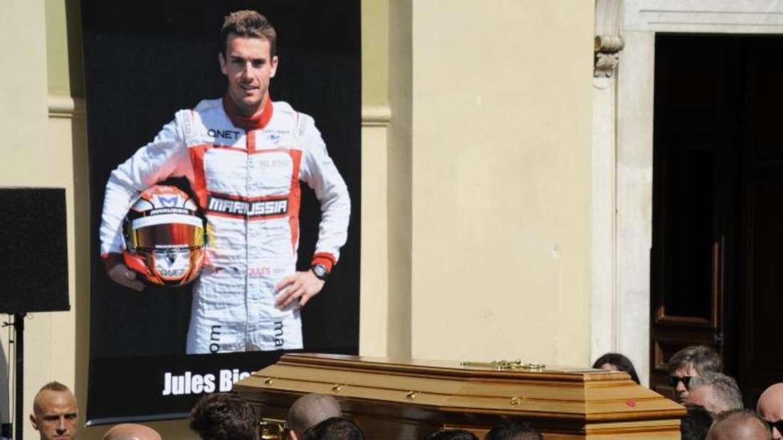Nach der Trauerfeier für Jules Bianchi fällt die Rückkehr zum sportlichen Alltag nicht leicht. Foto: Olivier Anrigo