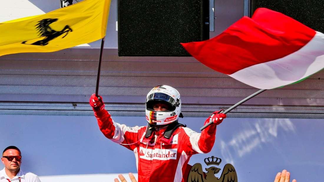 Sebastian Vettel nach seinem Sieg