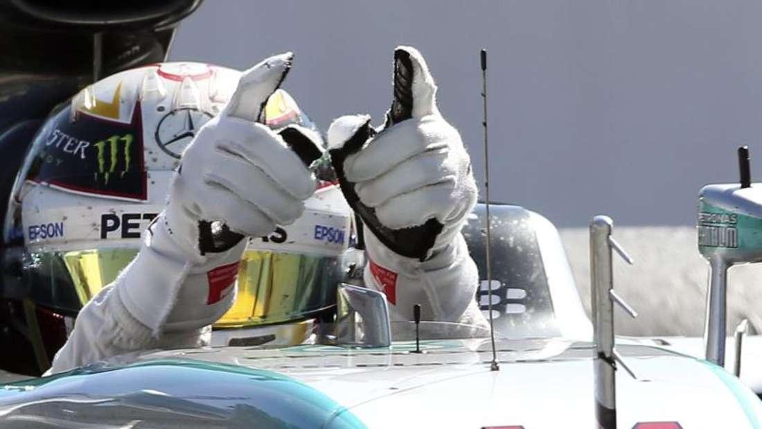 Lewis Hamilton hat souverän den Sieg in Monza eingefahren. Foto: Srdjan Suki