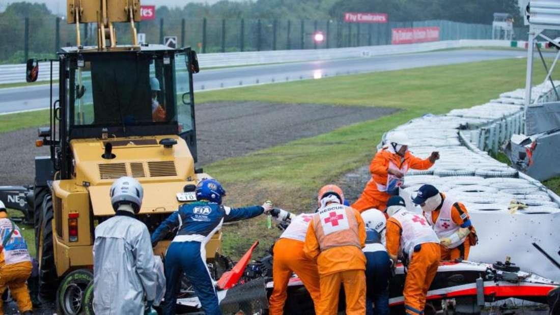 Jules Bianchi verunglückte am 5. Oktober 2014 auf der Rennstrecke von Suzuka. Foto: Hiroshi Yamamura