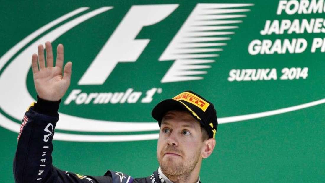 2014 fuhr Sebastian Vettel in Suzuka auf Rang drei, noch für Red Bull Racing. Foto: Franck Robichon