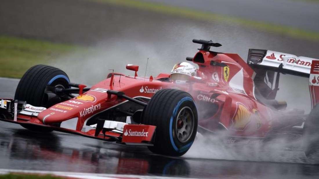 Sebastian Vettel wurde auf der nassen Piste nur Fünfter. Foto: Franck Robichon