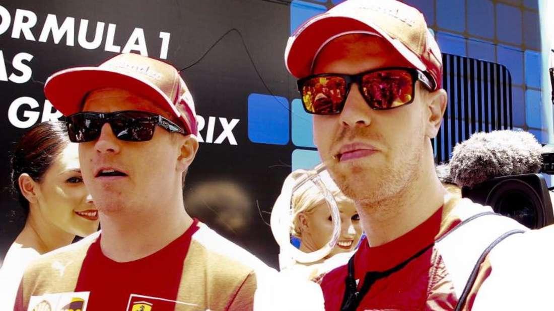 Auf Kimi Räikkönens Unterstützung kann Sebastian Vettel bauen. Foto: Diego Azubel