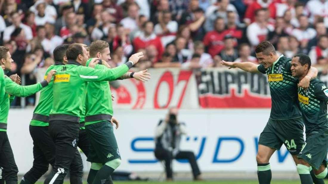 Borussia Mönchengladbach konnte in Stuttgart den zweitenSaisonsieg bejubeln. Foto: Daniel Maurer