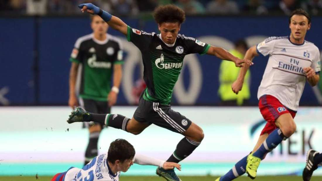 Schalkes Leroy Sané avancierte gegen den HSV zum Matchwinner. Foto: Axel Heimken