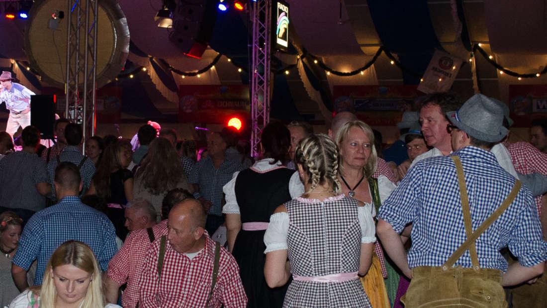 Wie immer prächtige Stimmung beim Mannheimer Oktoberfest.