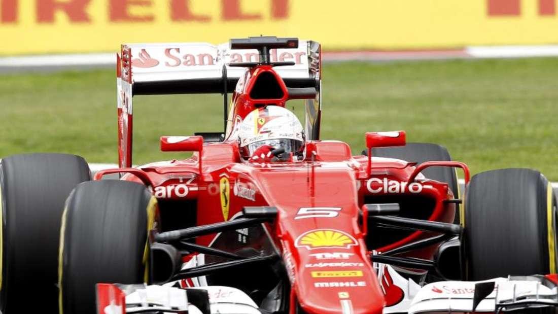 Sebastian Vettel schied im Ferrari aus. Foto:Ulises Ruiz Basurto