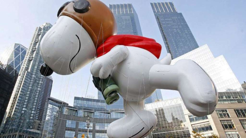 Snoopy-Figur in New York bei der Thanksgiving Day Parade 2007. Foto: Peter Foley
