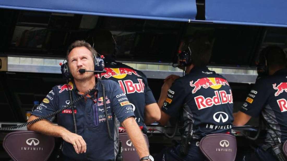 Christian Horner und Red Bull bleiben in der Formel 1. Foto: Yuriko Nakao
