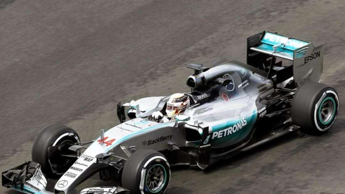 Lewis Hamilton zeigte im Training zum GP von Brasilien eine starke Leistung. Foto: Ulises Ruis Basurto